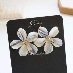 J.Crew Acetate Flower Earrings with Pavé Detail
